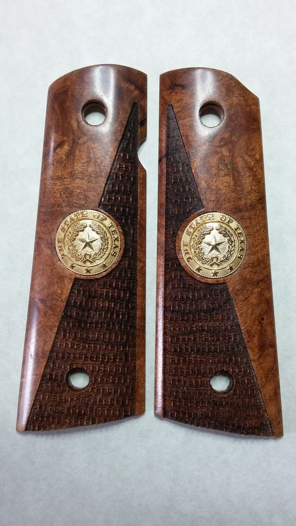 Combat Checkering With State Seal Inlay